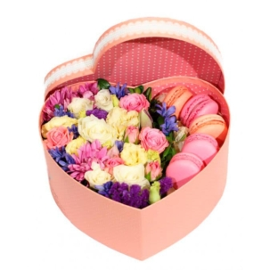 """Цветы в коробке """"С печеньем"""""""