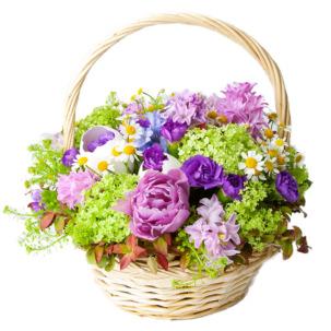 """Цветы в корзинке """"Летний сад"""""""